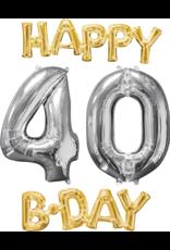 Amscan folieballonpakket Happy 40 B-day