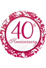 Amscan folieballon 40th Anniversary 43 cm