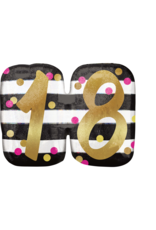 Amscan folieballon supershape pink&gold 18 jaar