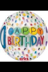 Amscan folieballon orbz confetti stijl 30 jaar 38 x 40 cm
