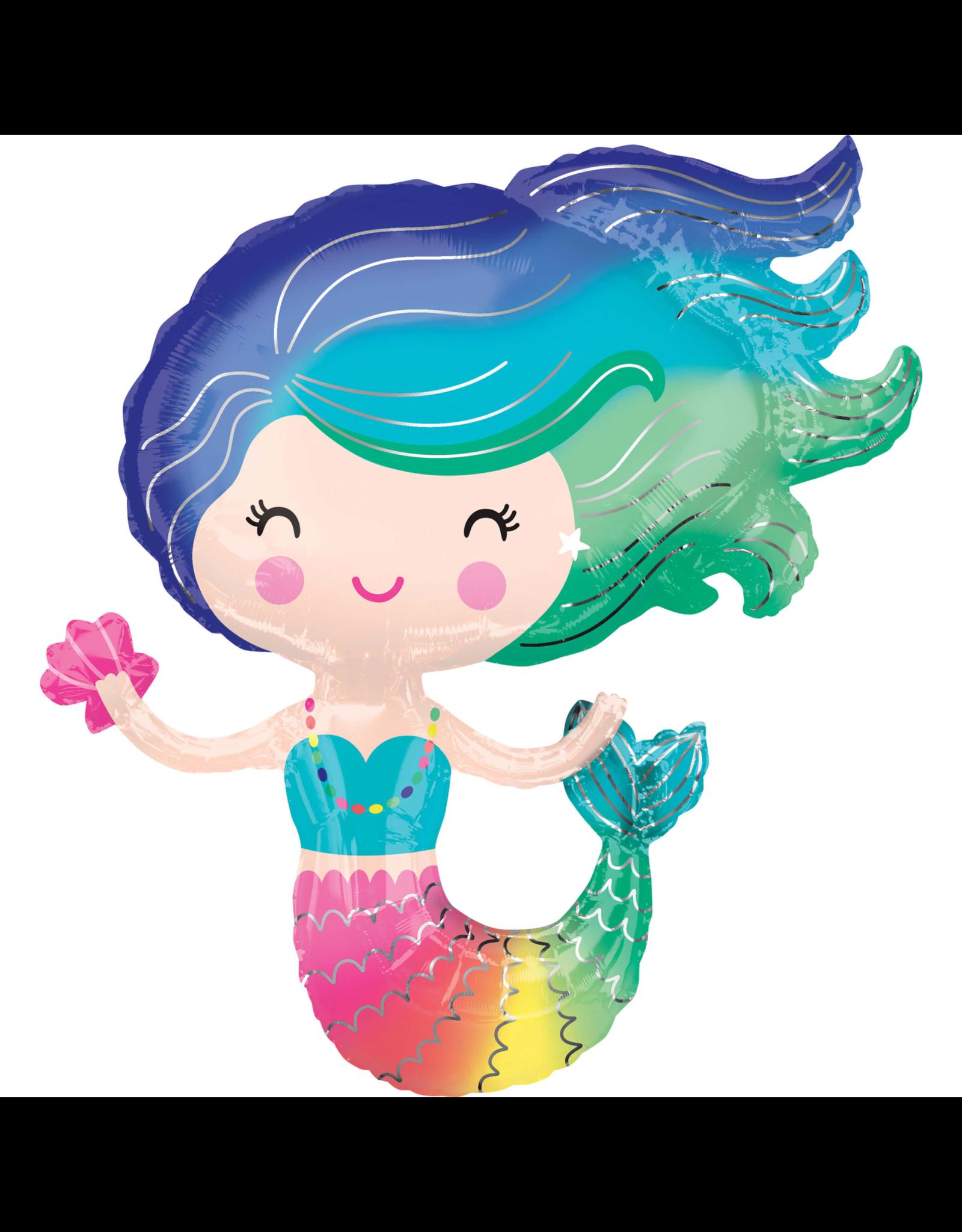 Amscan folieballon supershape Mermaid 73 x 76 cm