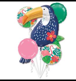 Amscan folieballonpakket toekan 5-delig