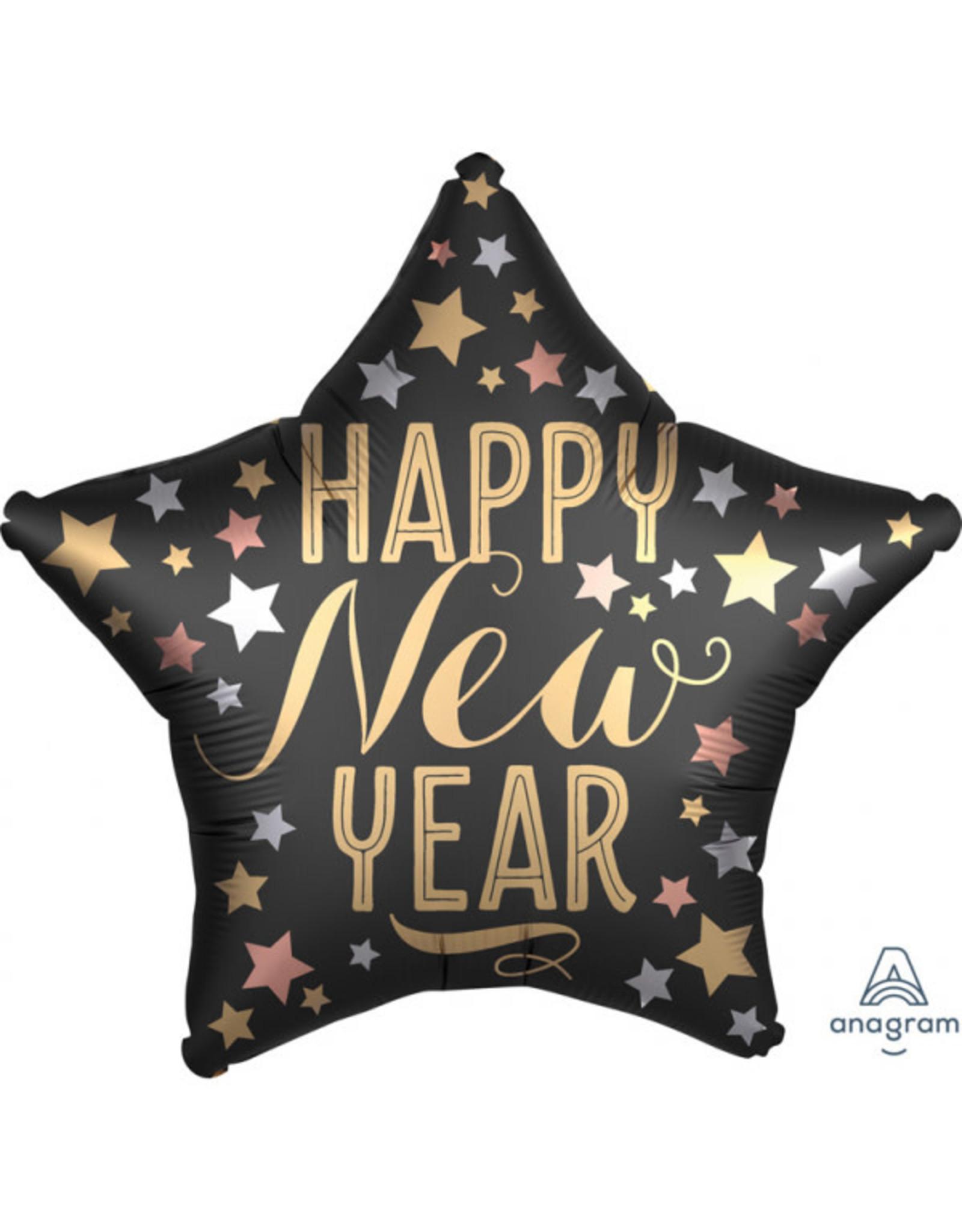 Amscan folieballon ster happy new year stars 48 cm