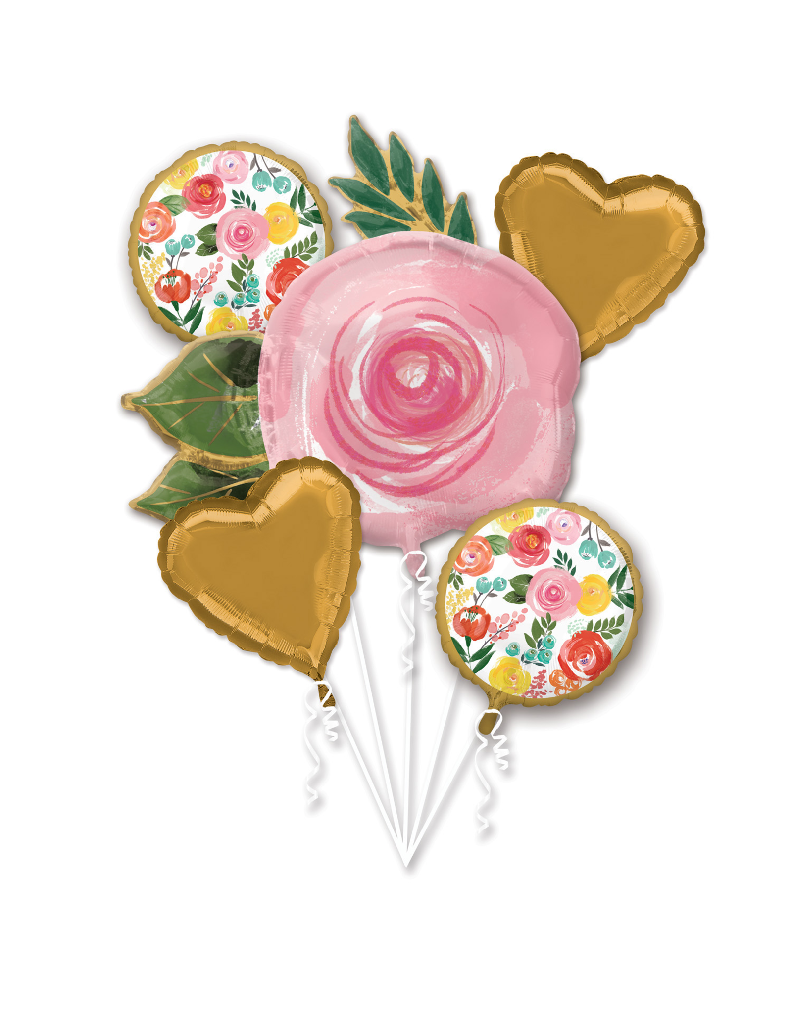 Amscan folieballonpakket bloemen 5-delig