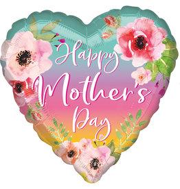 Amscan folieballon happy's mother's day supershape hart bloem