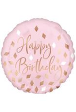 Amscan folieballon happy birthday rose gold 43 cm