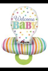 Amscan folieballon speen welcome baby 55x73cm
