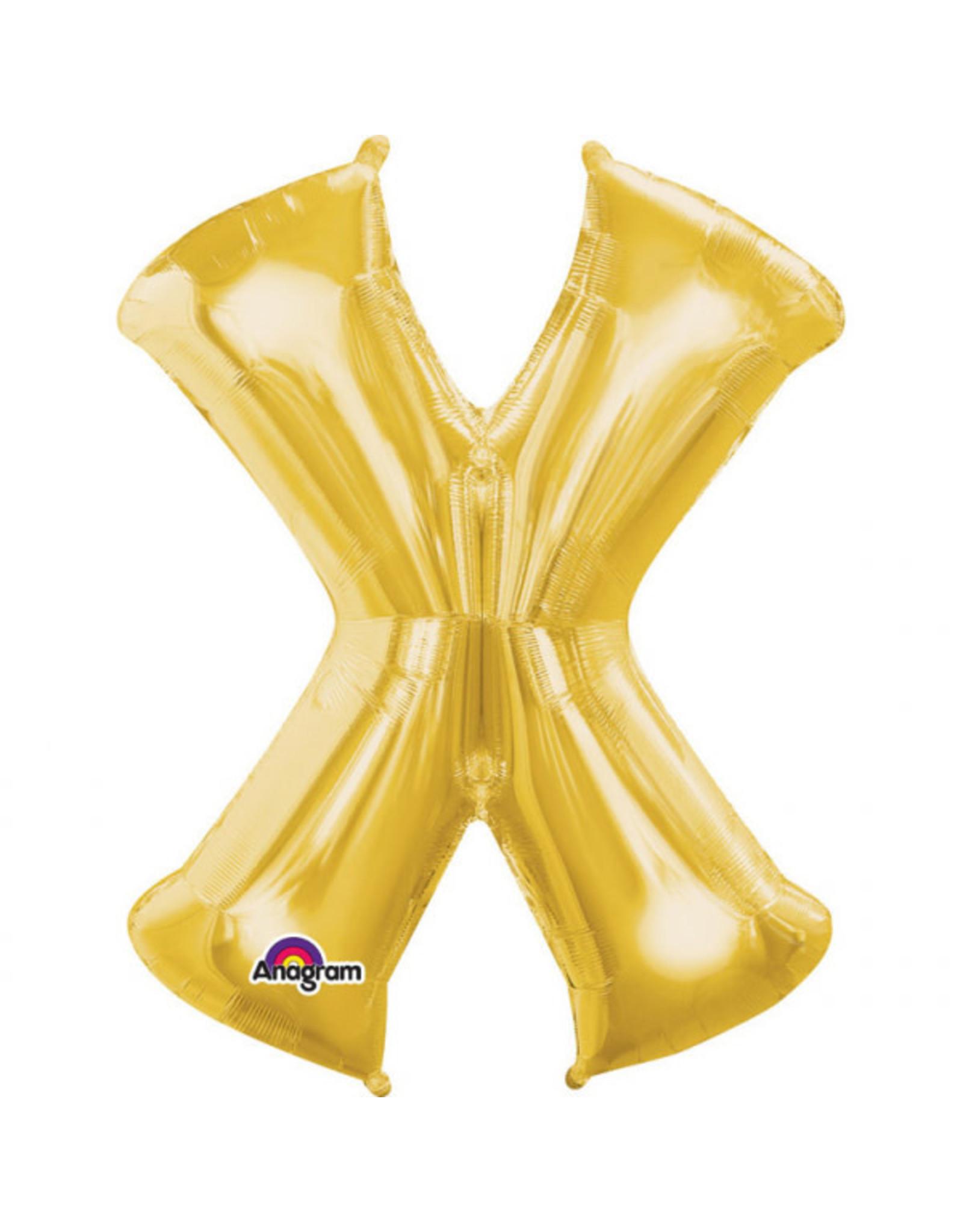 Amscan folieballon goud letter X 40 cm