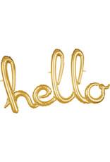 Amscan folieballon airfilled goud hello