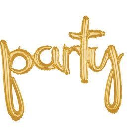 Amscan folieballon airfilled goud party
