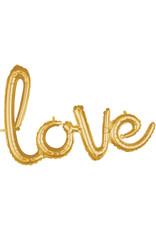 Amscan folieballon airfilled goud love