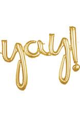Amscan folieballon airfilled goud Yay!