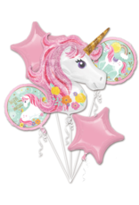 Amcan folieballonpakket unicorn 5-delig