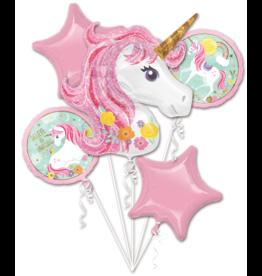 Amscan folieballonpakket unicorn 5-delig