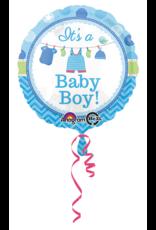 Amscan folieballon it's a baby boy! 43 cm