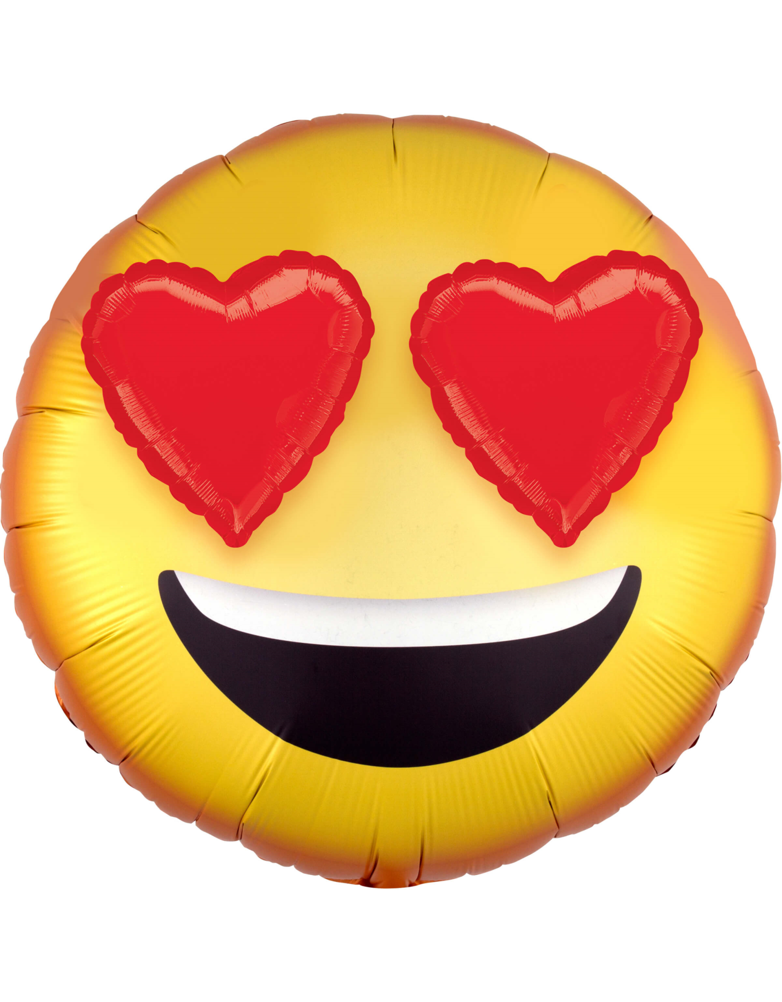 Amscan folieballon emoticon 3D heart eyes 71 cm