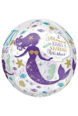 Amscan folieballon orbz mermaid 38 x 40 cm