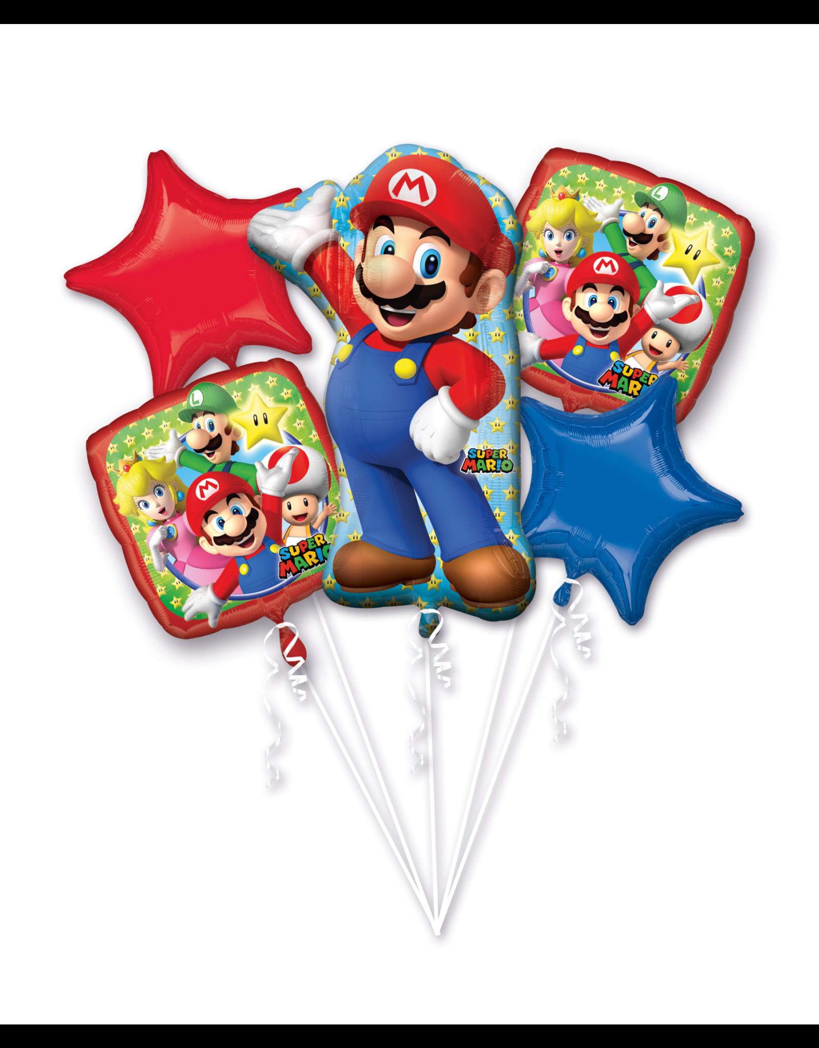 Amscan folieballonpakket Super Mario 5-delig