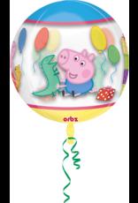 Amscan folieballon orbz peppa pig 38 x 40 cm