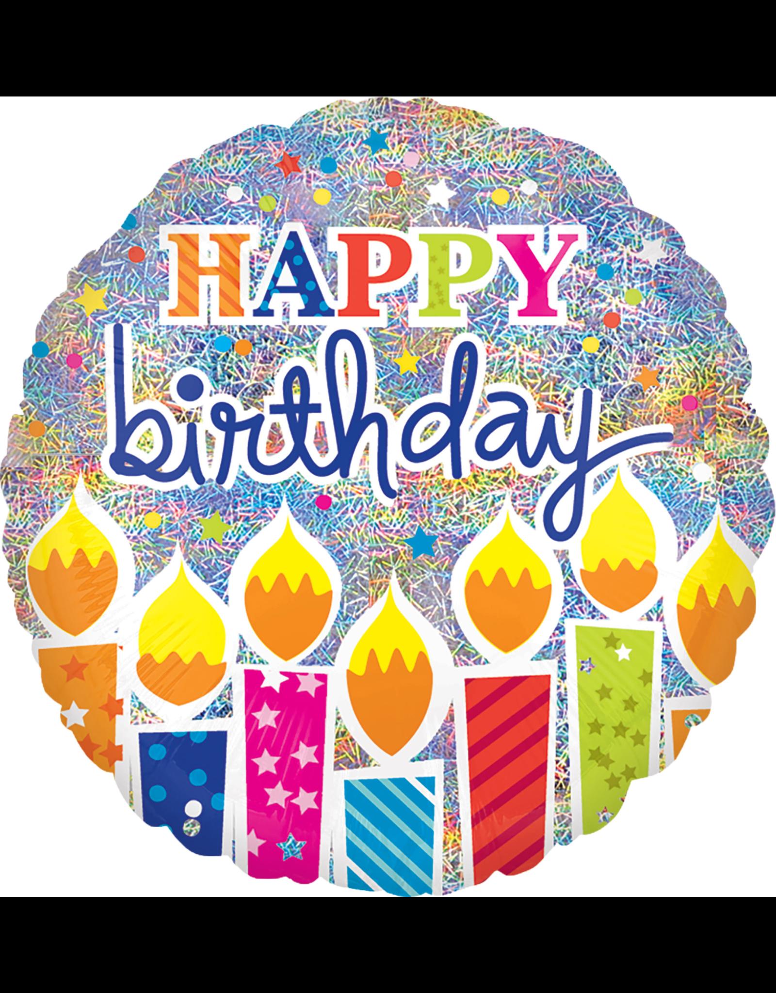 Amscan folieballon shimmer birthday candles 45 cm