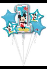 Amscan folieballonpakket 1st birthday Mickey Mouse 5-delig