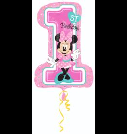 Amscan folieballon 1st birthday Minnie Mouse 48 x 71 cm