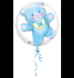 Folieballon it's a boy Double Bubble