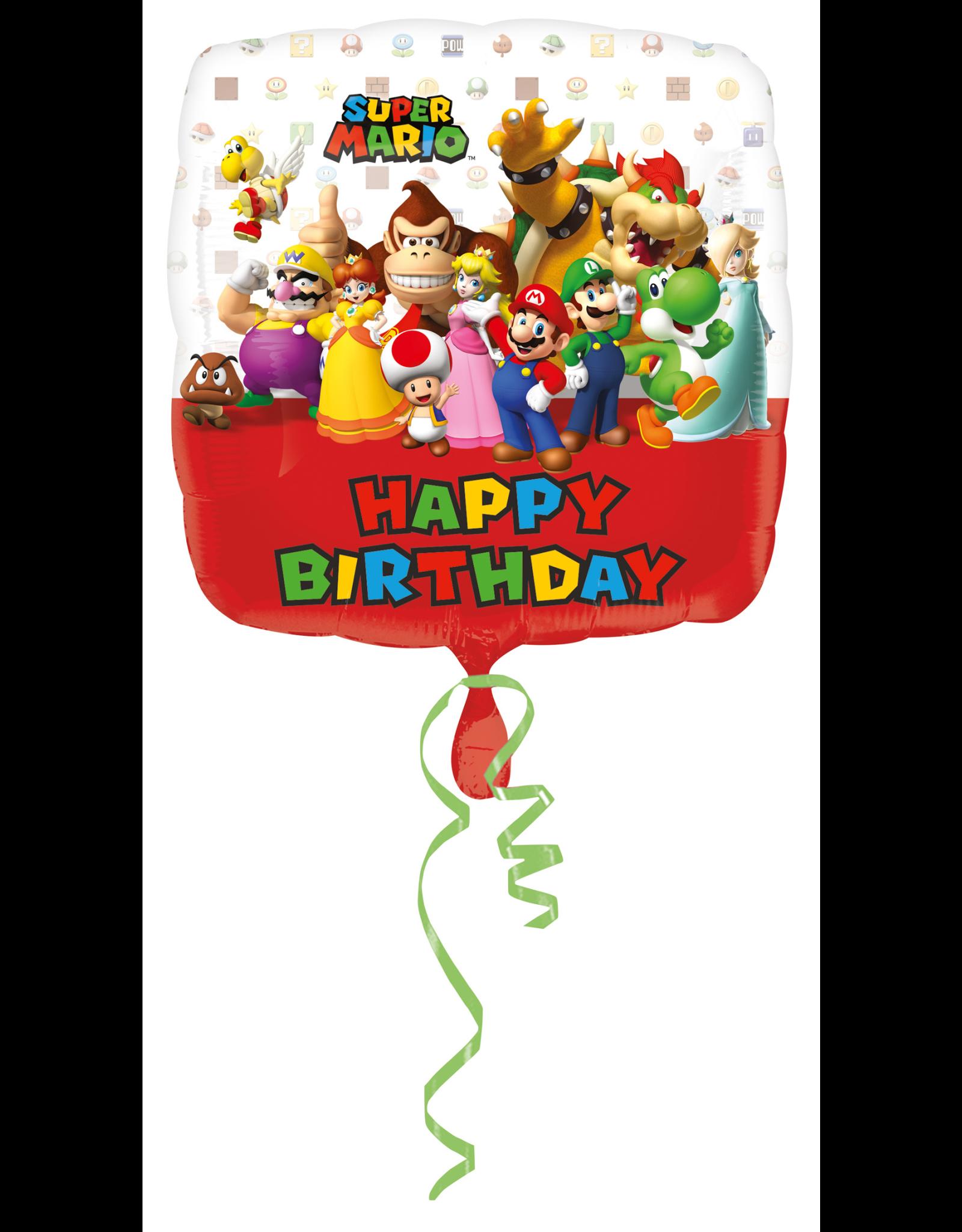 Amscan folieballon super mario 43 cm