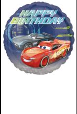Amscan folieballon cars happy birthday rond 43 cm