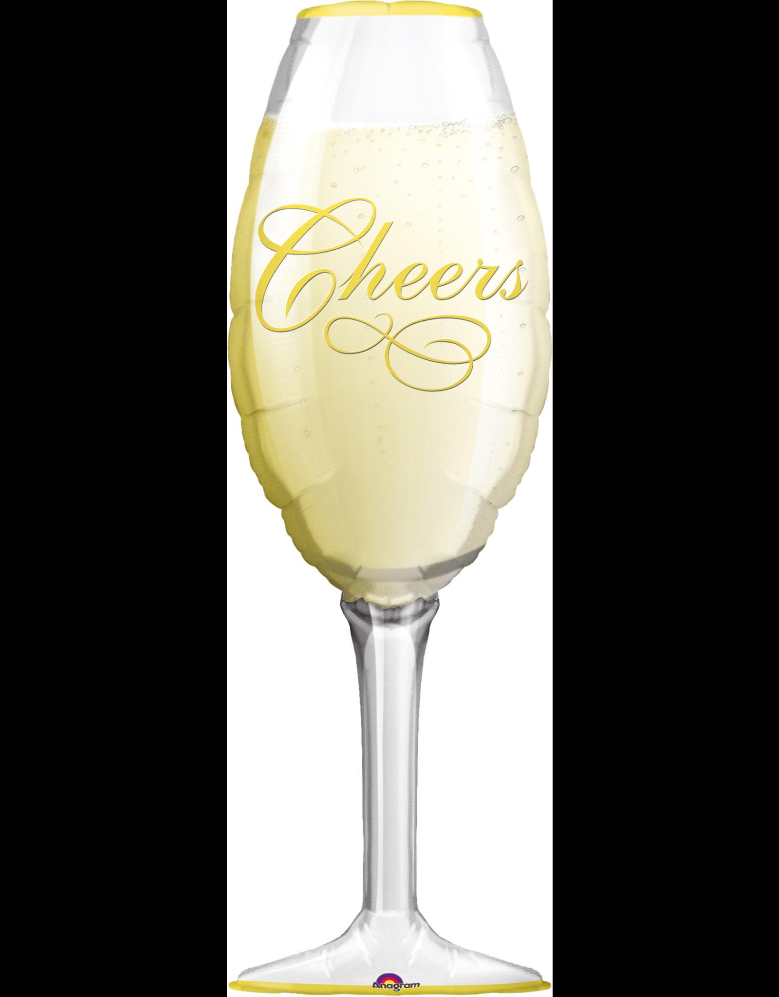 Amscan folieballon supershape champagne glass 35 x 97 cm