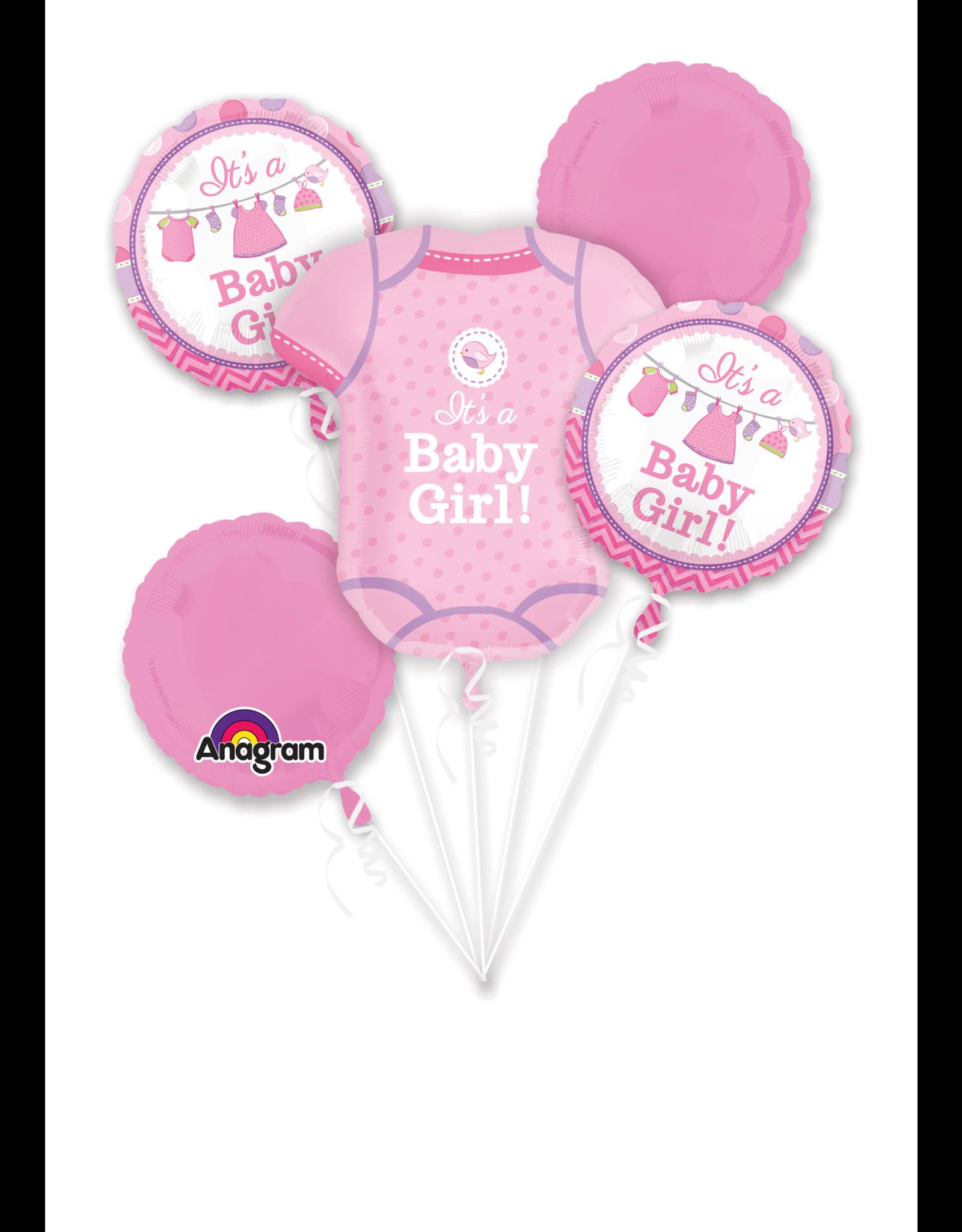 Amscan folieballonpakket it's a baby girl 5-delig