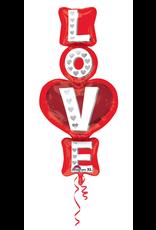 Amscan folieballon LOVE 50 x 99 cm