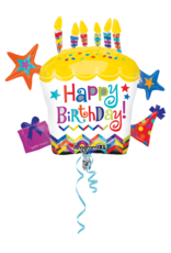 Amscan folieballon supershape cupcake happy b-day 71 x 66 cm
