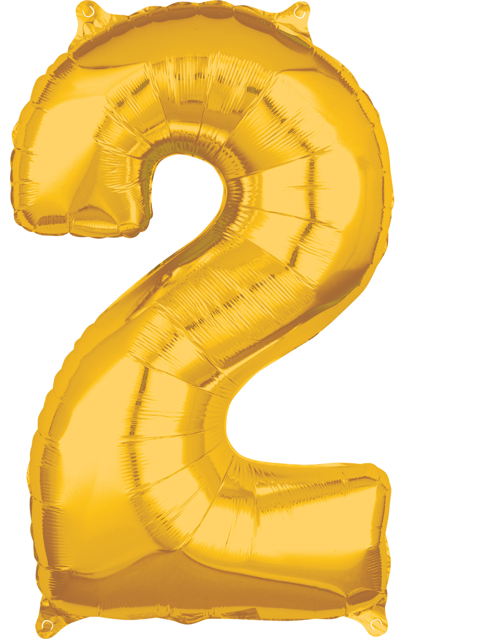 Amscan folieballon goud cijfer 2 66 cm