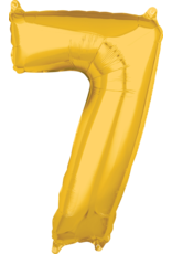 Amscan folieballon goud cijfer 7 66 cm