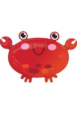 Amscan folieballon junior shape krab 55 x 38 cm