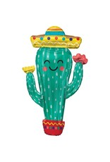 Amscan folieballon supershape mexicaanse cactus 60 x 96 cm
