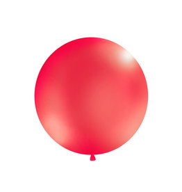 Ballon 1 meter rond metallic rood