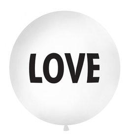 Ballon 1 meter rond pastel wit love
