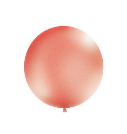 Jumbo ballon rose goud 1 meter