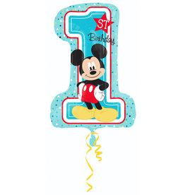 Amscan folieballon 1st birthday Mickey 48 x 71 cm