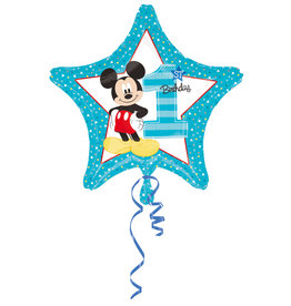 Amscan folieballon 1st birthday Mickey Mouse 48 cm