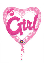 Amscan folieballon 3D baby girl 91 cm