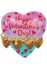 Amscan folieballon 3D Happy Valentine's Day 53 cm