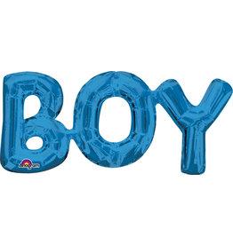Amscan folieballon Air-filled blauw BOY