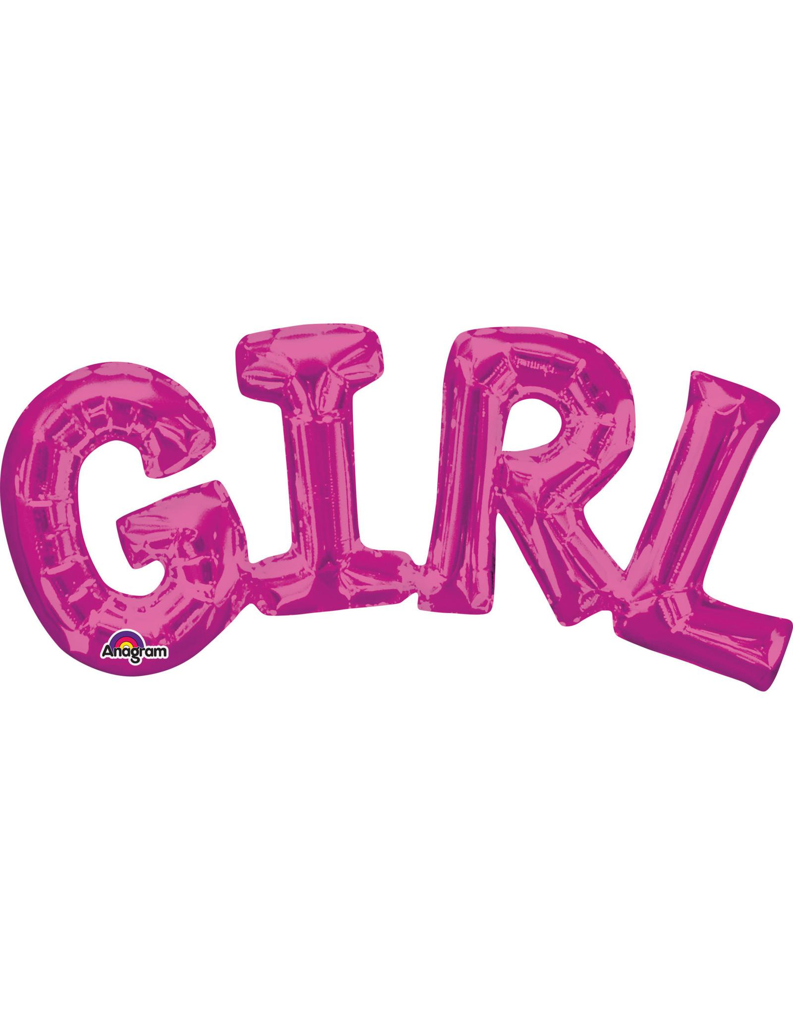 Amscan folieballon Air-filled Girl roze