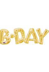 Amscan folieballon Air-filled goud B-DAY