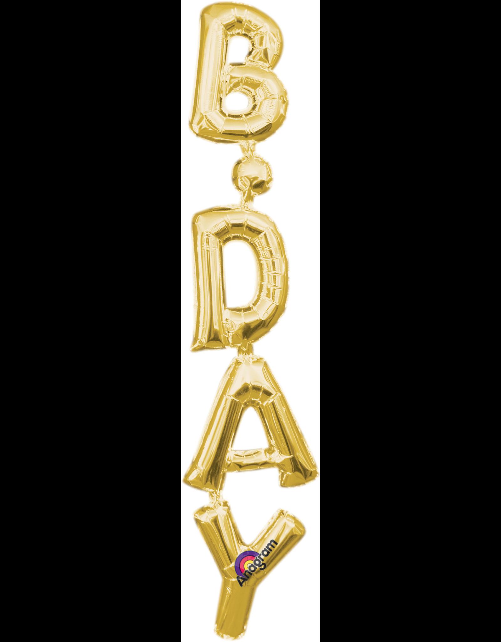 Amscan folieballon Air-filled goud B.DAY