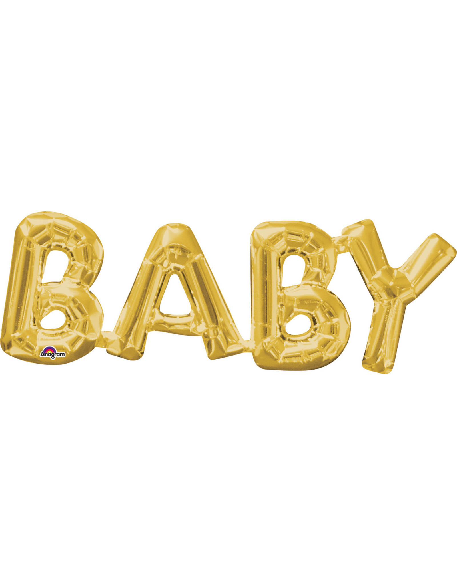 Amscan folieballon Air-filled goud Baby