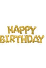Amscan folieballon Air-filled goud happy birthday